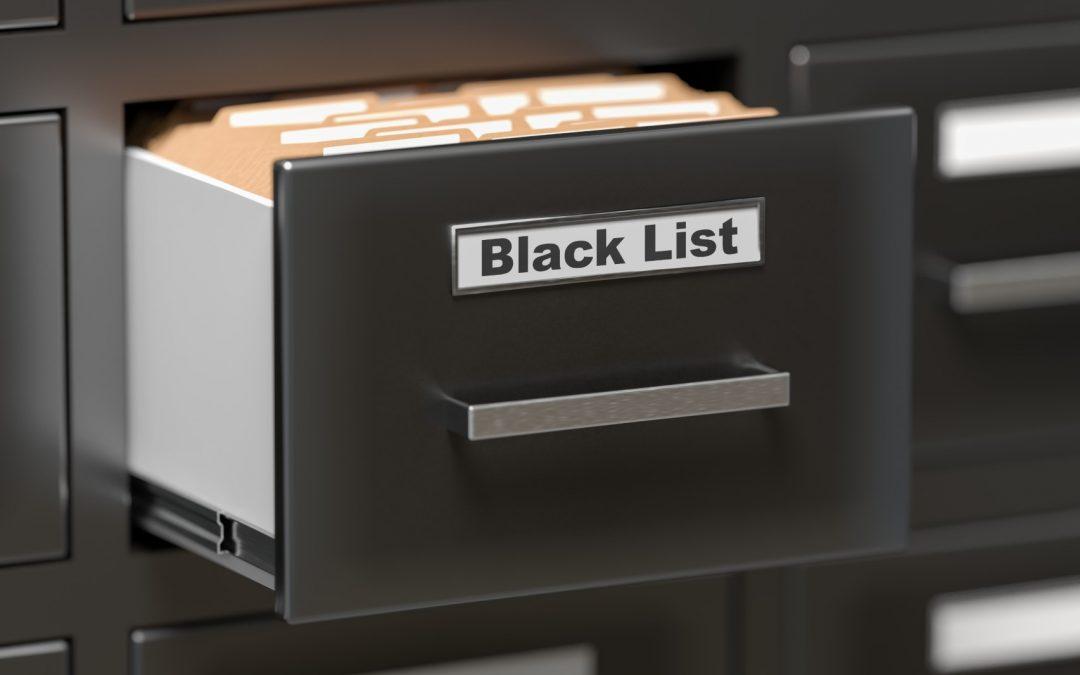 Avertissement – Ignorez la demande de paiement pour le service de radiation d'une liste noire
